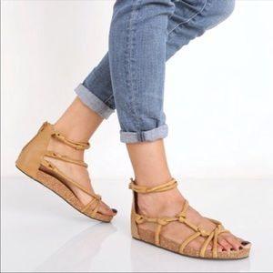 Free People | Tan Leather Redlands Footbed Sandal
